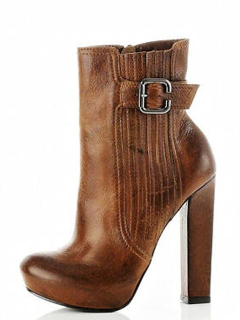 "<p>Cool, sky high and a little bit Wang, these ankle boots are sure to sell out. <a href=""http://www.riverisland.com/Online/women/shoes--boots/boots/brownpanelledankleboots-596518"">River Island</a> leather ankle boots, £94.99 </p>"