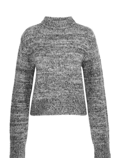 """<p><a href=""""http://www.cosstores.com/gb/site/home__start.nhtml"""">Cos</a> grey marl jumper, £49</p>"""