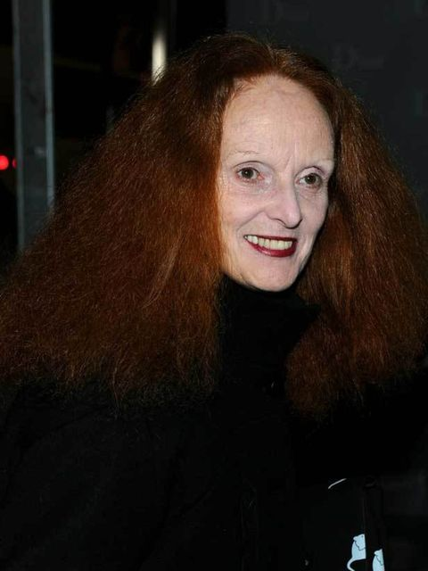 "<p>Grace Coddington at <a href=""http://www.elleuk.com/catwalk/collections/christian-dior/spring-summer-2011/collection"">Dior</a>'s 57th Street Boutique re-opening, 8 December 2010</p>"