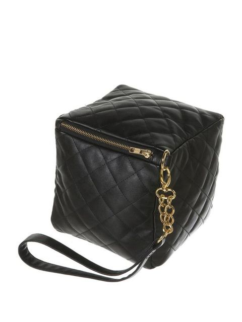 "<p>KTZ quilted cube bag, £80, at <a href=""http://www.topshop.com/webapp/wcs/stores/servlet/ProductDisplay?beginIndex=0&amp&#x3B;viewAllFlag=&amp&#x3B;catalogId=33057&amp&#x3B;storeId=12556&amp&#x3B;productId=1945626&amp&#x3B;langId=-1&amp&#x3B;sort_field=Relevance&amp&#x3B;categoryId=20971"