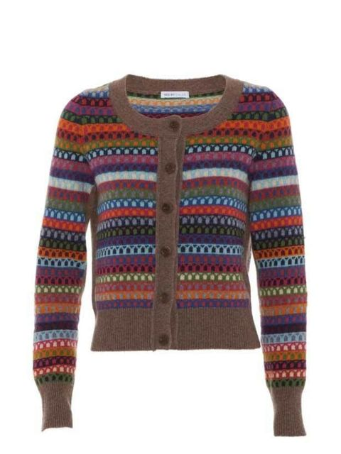 "<p>See by Chloe short Fair Isle cardigan, £225, at <a href=""http://www.harveynichols.com/womens/categories/designer-knitwear/cardigans/s330619-short-fairisle-cardigan.html?colour=MULTICOLOURED"">Harvey Nichols</a> </p>"