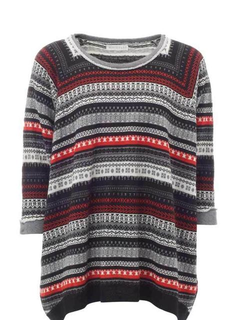 "<p><a href=""http://www.whistles.co.uk/fcp/categorylist/dept/shop?resetFilters=true"">Whistles</a> Fair Isle knitted sweater, £85 </p>"