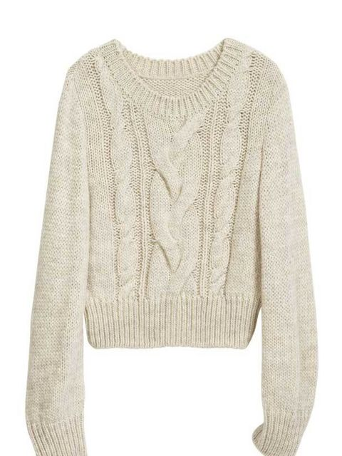 <p> </p><p>Cable knits are having a revival this season. Wear with jeans at the weekend or channel Dries Van Noten and team with a maxi for the office. H&M cable knit jumper, £14.99, for stockists call 0207 323 2211</p>