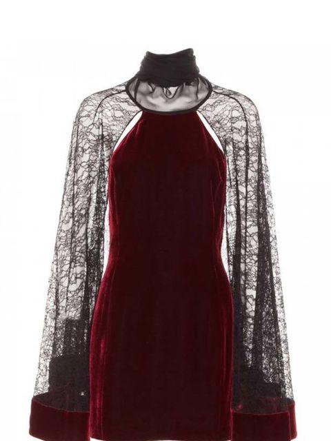 "<p>Alexander Wanfg lace sleeve velvet dress, £765, at <a href=""http://www.harveynichols.com/womens/categories/designer-dresses/evening/s337706-lace-sleeves-velvet-dress.html?colour=DARK+RED"">Harvey Nichols </a></p>"