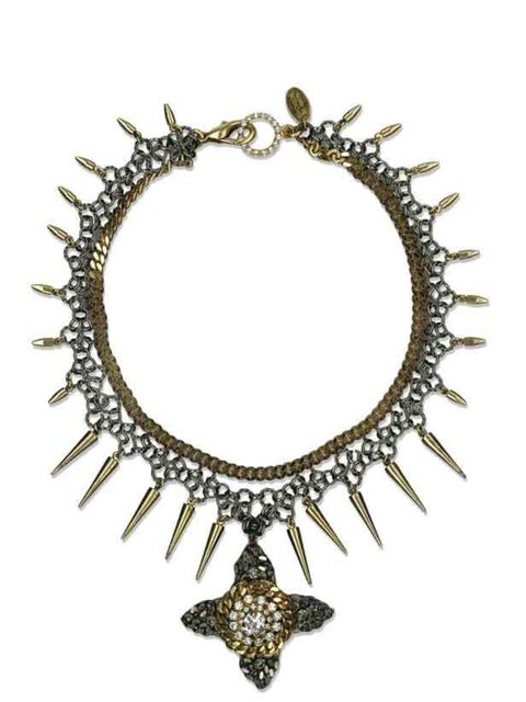 """<p>Erickson Beamon for Urban Outfitters spike necklace, £165, at <a href=""""http://www.urbanoutfitters.co.uk/erickson-beamon-spike-necklace/invt/5762455601992/"""">Urban Outfitters</a> </p>"""