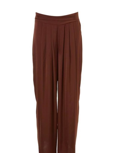 <p> </p><p>The evening trouser has returned and wide leg, pleated styles are our new wardrobe essential… Topshop silky wide-leg trousers, £38</p>