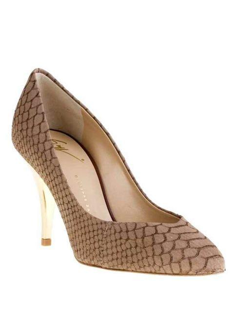 "<p>Giuseppe Zanotti python embossed shoe, £354, at <a href=""http://www.farfetch.com/shopping/women/giuseppe-zanotti/item10062314.aspx"">farfetch.com</a></p>"