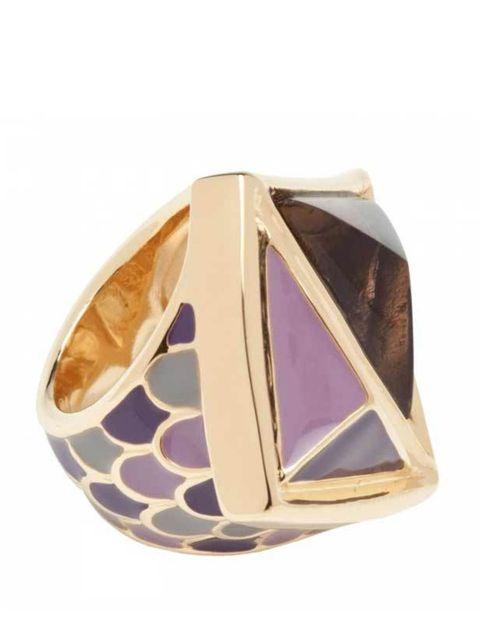 "<p>Kara Ross dragon scale putty ring, £155, at <a href=""http://www.harveynichols.com/womens/categories/jewellery/rings/s341588-dragon-scale-putty-ring.html?colour=GREY"">Harvey Nichols</a></p>"