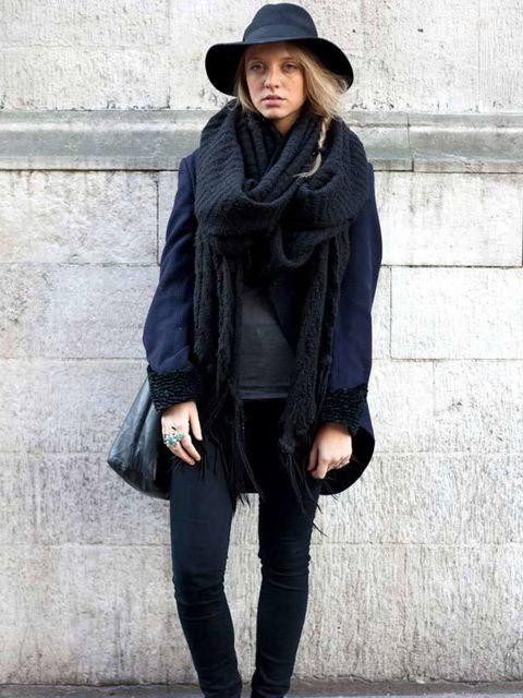<p>Photo by Silvia Olsen.Elisa, 21, Student. Comme des Garcons coat, J Brand jeans, TK Maxx hat, H&amp&#x3B;M scarf, Converse. </p>