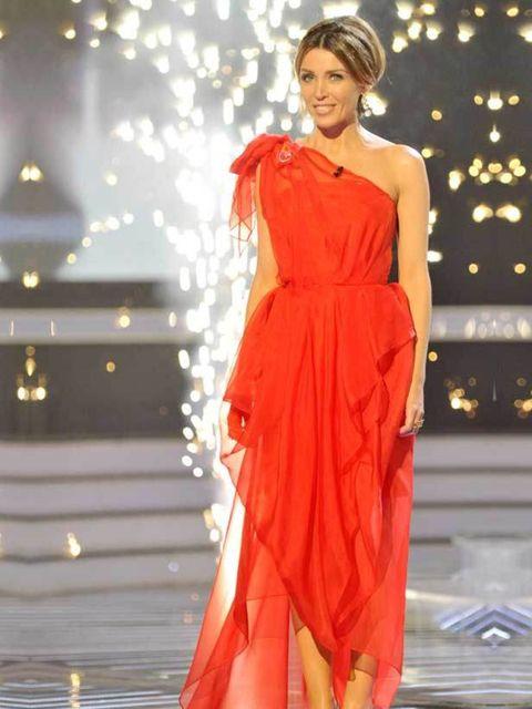 "<p><a href=""http://www.elleuk.com/news/Star-style-News/best-dressed-cheryl-cole-and-dannii-minogue"">Dannii Minogue</a> in Carla Zampatti in week 8 of the X Factor, 27 November 2010</p>"
