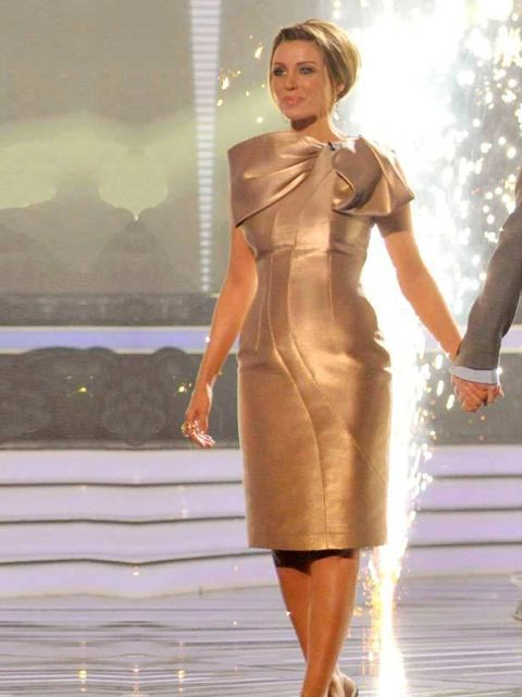 <p>Dannii Minogue wears Philip Armstrong in week 5 of the competition, 6 November 2010</p>