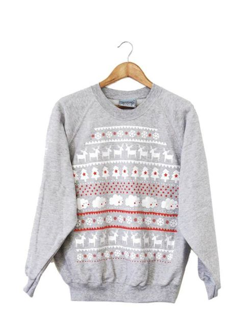 "<p><a href=""http://www.lazyoaf.co.uk/womens-sweatshirts/c22_27/p1977/Lazy-Oaf-Grey-Christmas-Jumper/product_info.html"">Lazy Oaf</a> Christmas jumper, £50</p>"