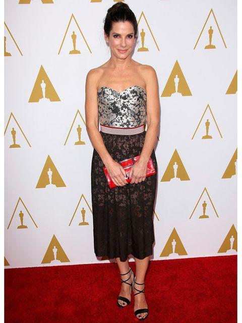 <p>Sandra Bullock wears Stella McCartney for the 86th Academy Awards Nominees Luncheon.</p>