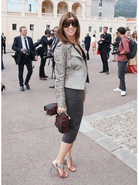 <p>Carine Roitfeld at the Louis Vuitton Cruise 2015 show.</p>