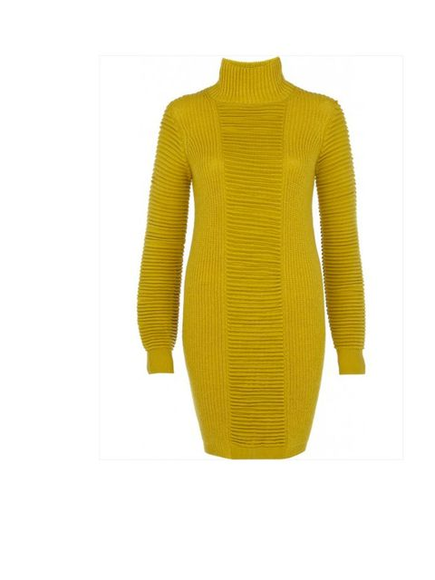 <p>Eudon Choi for River Island yellow jumper dress, £80.</p>