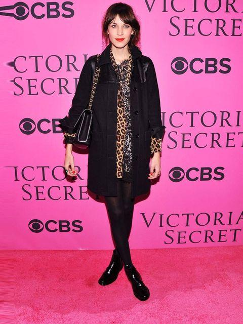 <p>Alexa Chung in leopard print at the Victoria's Secret 2012 show.</p>