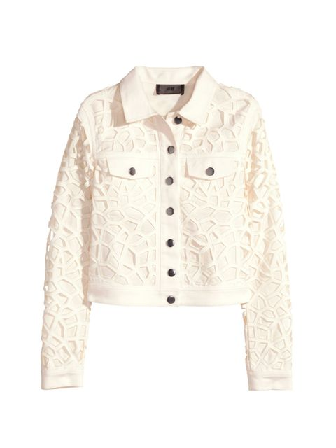 """<p><a href=""""http://www.hm.com/gb/product/88701?article=88701-B"""" target=""""_blank"""">H&M jacket</a>, was £55.99, now £35</p>"""