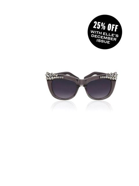 "<p>These make a statement all year around</p><p><a href=""http://www.kurtgeiger.com/women/accessories/louise-diamante-sunglass-grey-handmade-acetate-kg-kurt-geiger-accessory.html"">Kurt Geiger </a>diamante sunglasses £80</p>"