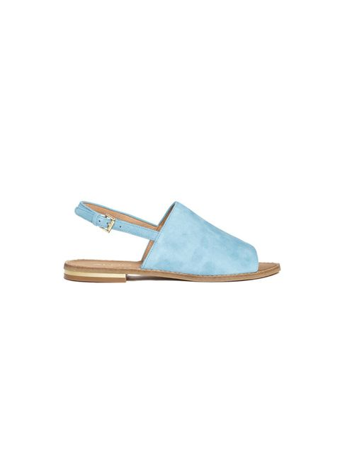 """<p>Just slip them on, and slide right on down to the beach.</p><p>Aldo slides, £50, from <a href=""""http://www.asos.com/ALDO/ALDO-Cassica-Light-Blue-Flat-Sandals/Prod/pgeproduct.aspx?iid=3898075&amp;SearchQuery=aldo%20sandal&amp;sh=0&amp;pge=0&amp;pgesize=3"""