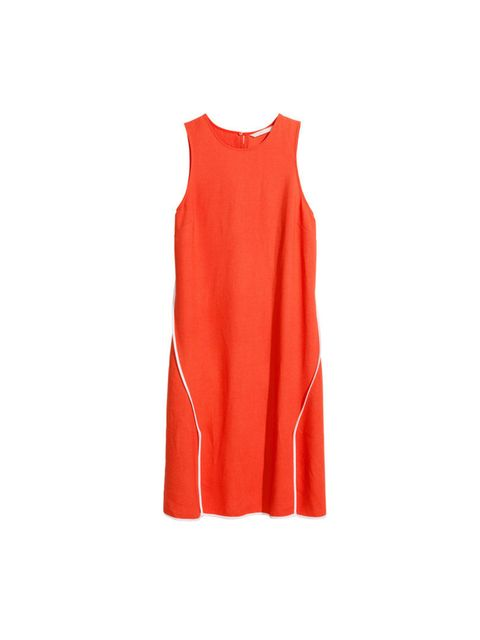 """<p>NUMBER 1</p><p>Keep it breezy. A tunic dress is your friend in the heat, this is not the time for bodycon. Oh, and paintbox brights help too. </p><p><a href=""""http://www.hm.com/gb/product/32551?article=32551-A"""">H&M</a> dress, £29</p>"""
