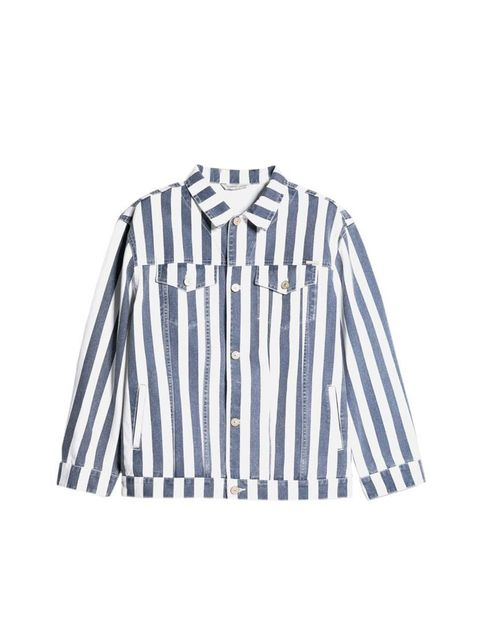 "<p>Acting Commissioning Editor Georgia Simmonds will clash her prints in this denim jacket.</p><p><a href=""http://shop.mango.com/GB/p0/women/new/striped-denim-jacket/?id=33070254_96&n=1&s=nuevo&ident=0__0_1403262818137&ts=1403262818137"">Mango</a> jacket,"
