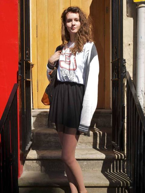 <p>Photo by Rob McDougall.Iona Campbell, 18, Student. Charity shop dress, H&M cardigan, River Island shoes.</p>