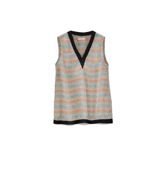 """<p><a href=""""http://www.elleuk.com/fashion/news/sofia-coppola-takes-marni-for-h-m-to-marrakech"""">Marni for H&amp;M</a> silk vest, £34.99, available at <a href=""""http://www.hm.com/gb/"""">H&amp;M</a></p>"""