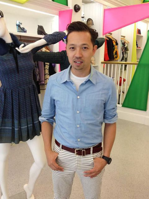 <p>Humberto Leon in the Opening Ceremony pop-up shop</p>
