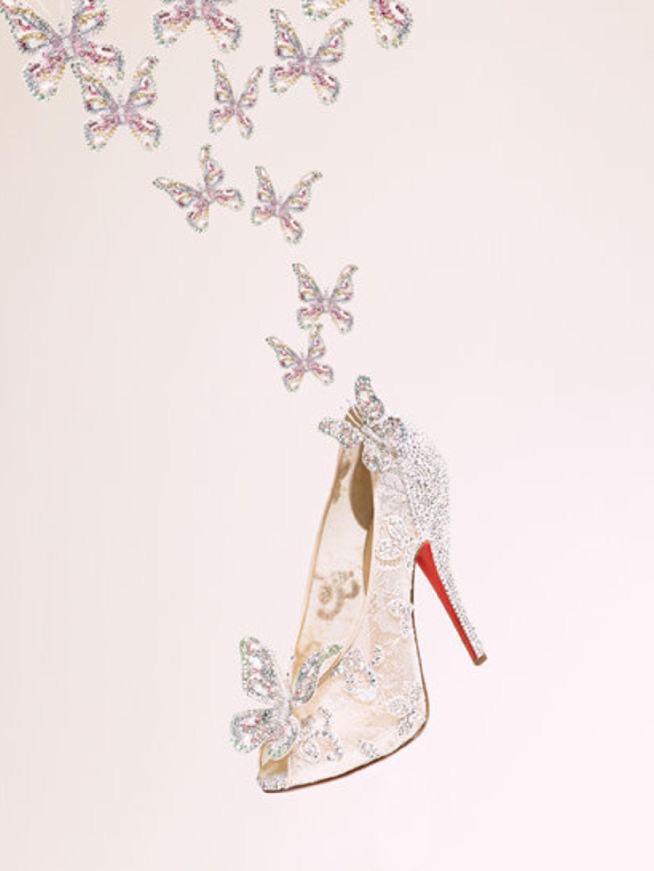 <p>Christian Louboutin's Cinderella-inspired shoe</p>