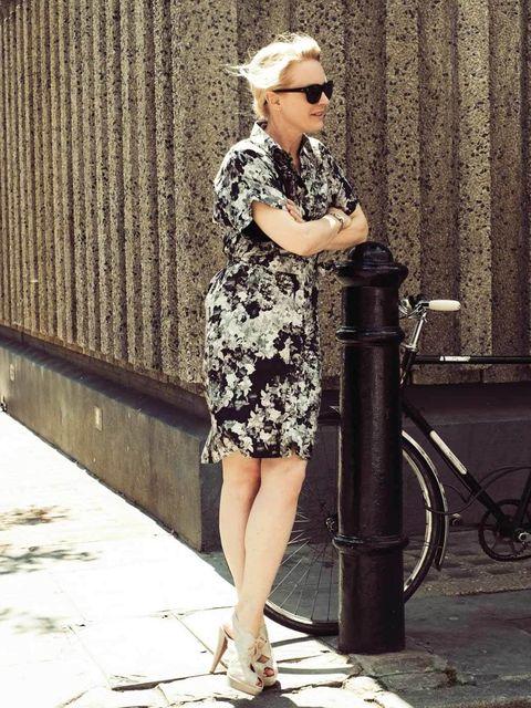 <p>Erdem dress, Prada shoes, Victoria Beckham sunglasses.</p><p>Photo by Phill Taylor</p>