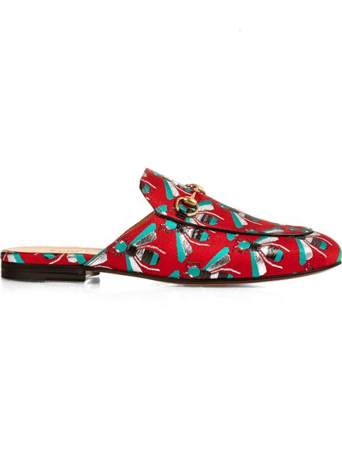 "<p>&#39&#x3B;Princetown&#39&#x3B; bee-jacquard backless loafers, &pound&#x3B;380, <a href=""http://Princetown bee-jacquard backless loafers"" target=""_blank"">Gucci</a></p>"
