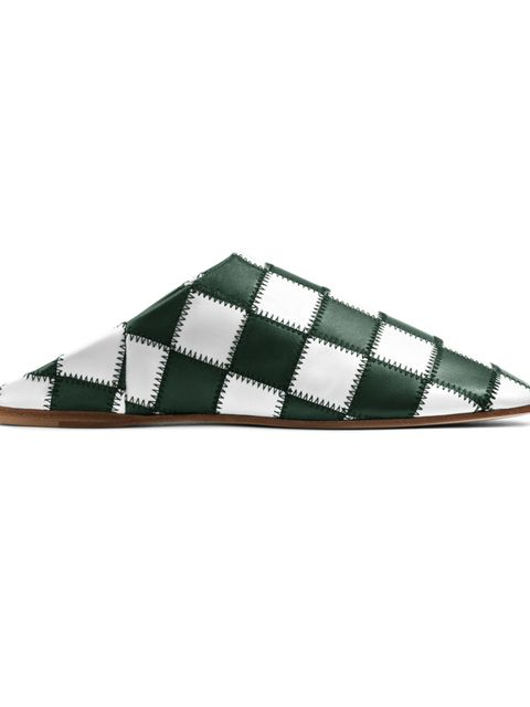 "<p>'Agata' patch shes, £450, <a href=""http://www.acnestudios.com/uk/en/shop/women/shoes/agata-patch-white-green.html"" target=""_blank"">Acne</a></p>"