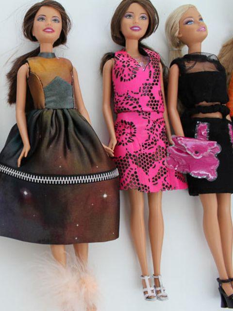 <p>Christopher Kane's fashion dolls</p>