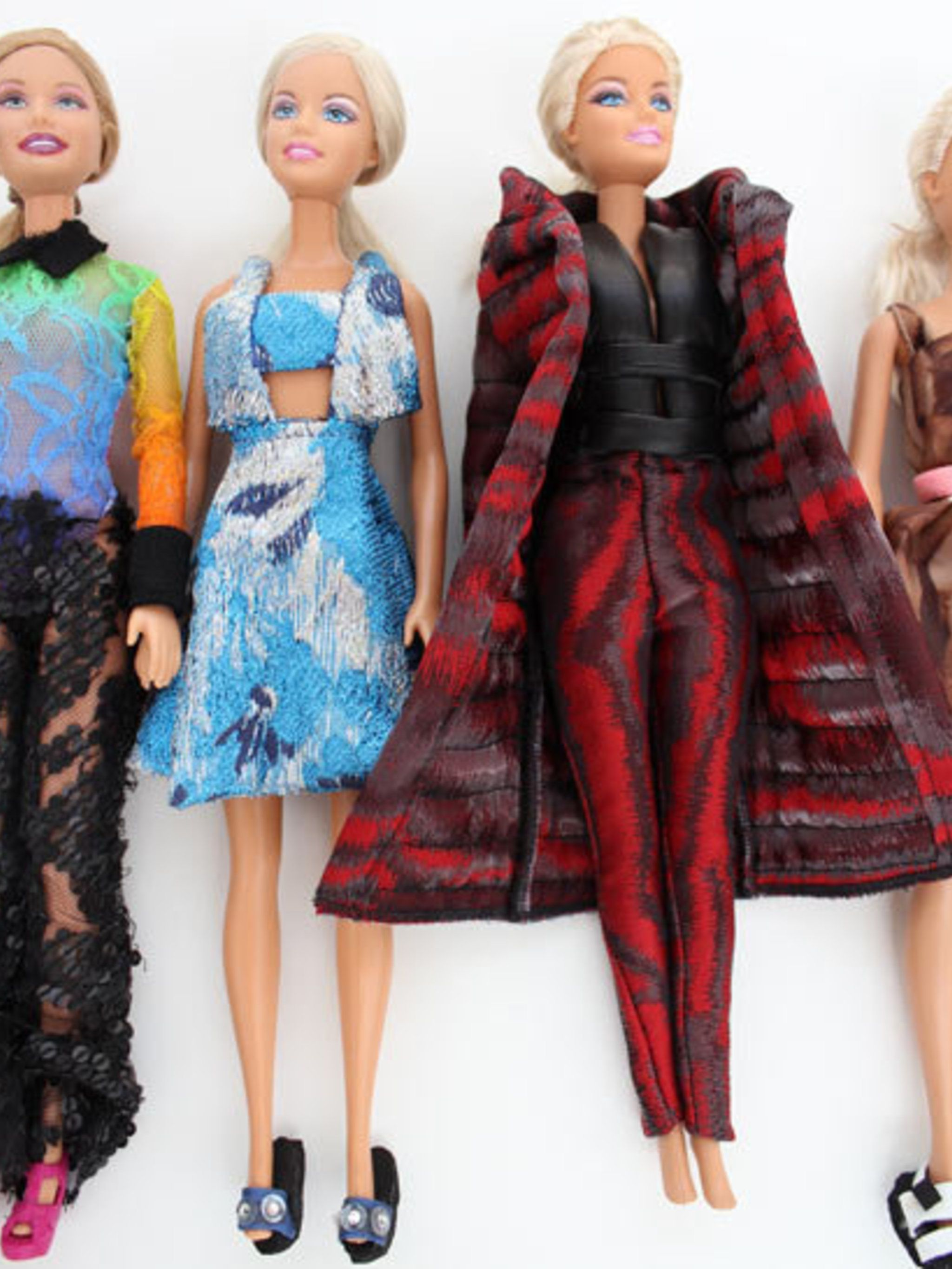 <p>Christopher Kane's fashion dolls</p>
