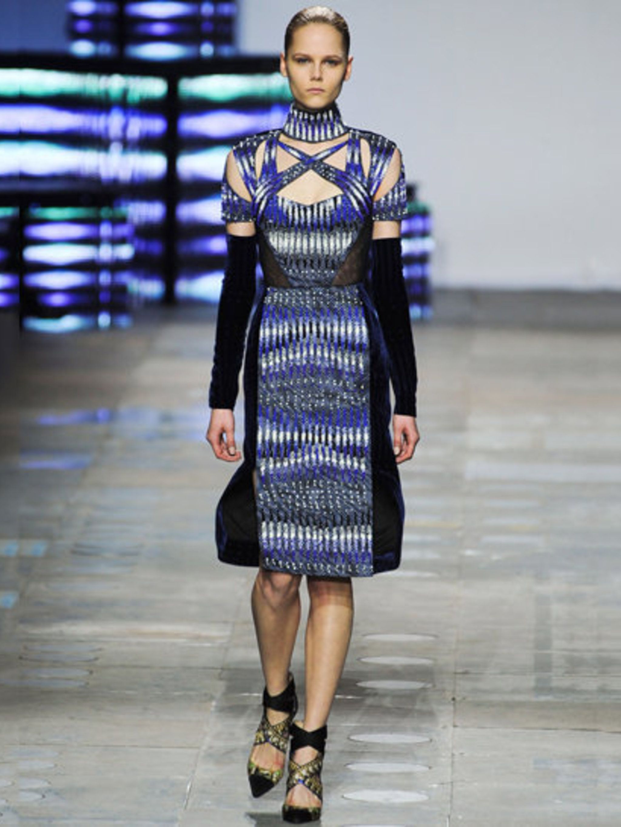 <p>Peter Pilotto AW 12 look, later customised for Gwen Stefani </p>
