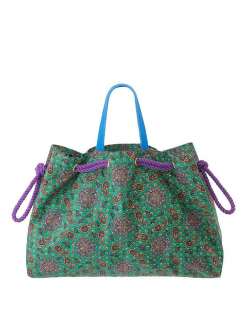 <p>Paisley print bag, £20, by Marc by Marc Jacobs (0207 399 1690)</p>