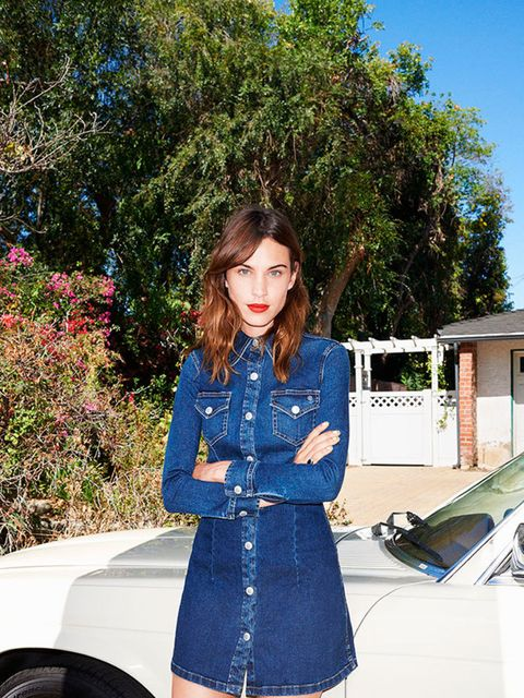 "<p>Alexa Chung for <a href=""http://www.elleuk.com/fashion/news/alexa-chung-designs-for-ag-denim-collection-adriano-goldschmied"">AG jeans</a>.</p>"