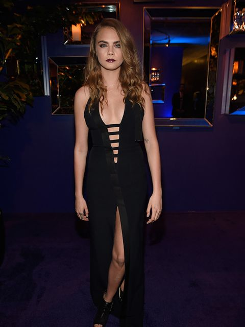 <p>Cara Delevingne attends the 72nd annual Golden Globe after-party, January 2015.</p>