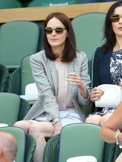 Michelle Dockery at Wimbledon 2015 in London.