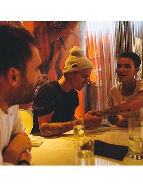 <p>Ruby Rose and Justin Bieber</p>  <p>We don't know how this happened, but we like it. And not just because they look surprisingly similar. Ruby Rose posted this pic on Instagram with the caption 'I have so much time for these two boys. @justinbieber @jo