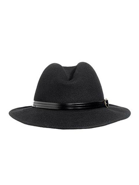 """<p><a href=""""http://www.reissonline.com/shop/womens/scarves/harriman/black/"""">Reiss</a> black wool hat, £42</p>"""