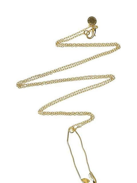 "<p>Tom Binns 'safety pin' necklace, £75, at <a href=""http://www.net-a-porter.com/product/106907"">Net-a-Porter</a></p>"