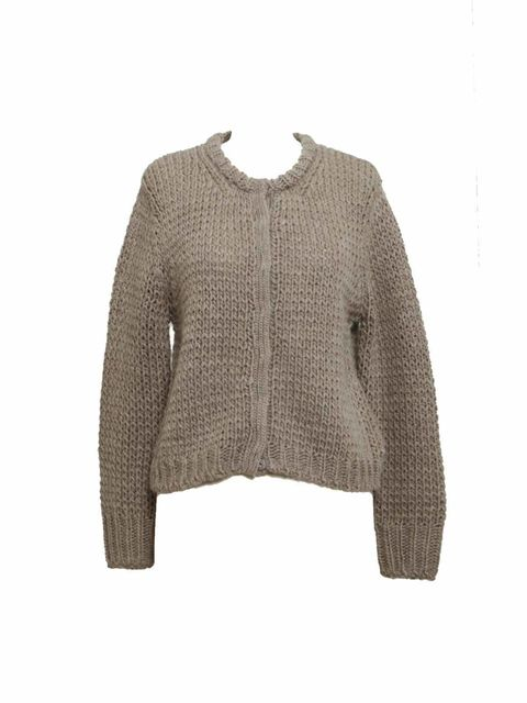 "<p><a href=""http://shop.acnestudios.com/shop/women/knits/lesley-alpaca-baw10.html"">Acne</a> chunky knit cardigan, £180</p>"