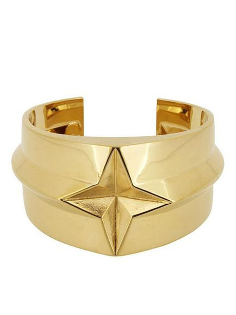 "<p><a href=""http://www.lucasjack.com/cms/index.php/bracelets/star-gold-cuff.html"">Lucas Jack</a> star gold cuff, £92</p>"