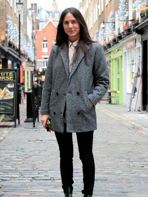 <p>Photo by Anthea Sims.Paula, 24, Strategist. Weekday jacket, Cos shirt, Whyred jeans and vintage boots.</p>