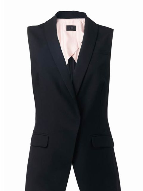 <p>Banana Republic sleeveless jacket, £65, for stockists call 020 7758 3550</p>
