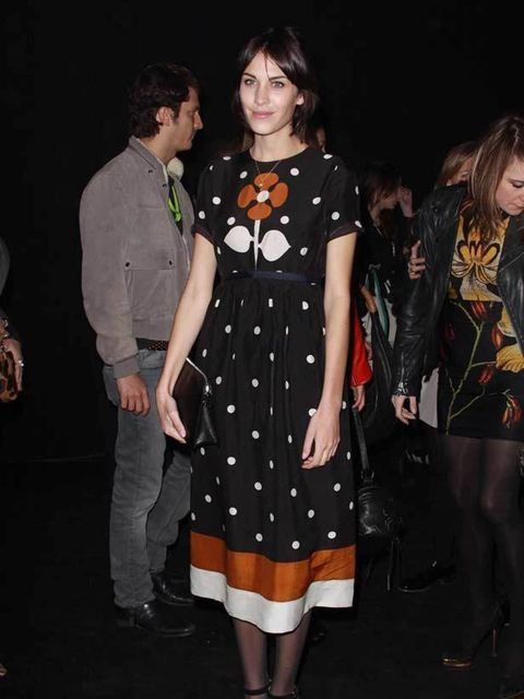"<p><a href=""http://www.elleuk.com/starstyle/style-files/%28section%29/Alexa-Chung"">Alexa Chung</a> at the Etam Spring/Summer 2011 collection launch at Grand Palais in Paris, 24 January 2011</p>"