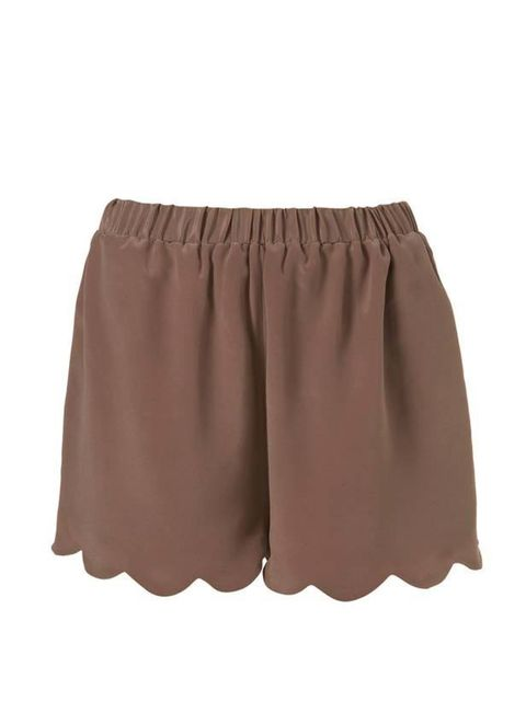 """<p>Feminine and sophisticated, these scallop edged shorts tap into the Chloe look we all so love and will see you through to next season…<a href=""""http://www.topshop.com/webapp/wcs/stores/servlet/ProductDisplay?beginIndex=0&amp&#x3B;viewAllFlag=&amp&#x3B;langId=-1&a"""