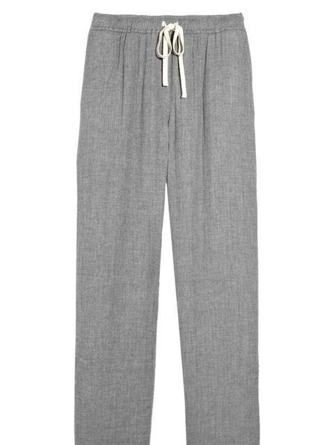 "<p>Aubin & Wills cotton lounge pants, £69, at <a href=""http://www.net-a-porter.com/product/98065"">Net-a-Porter</a></p>"