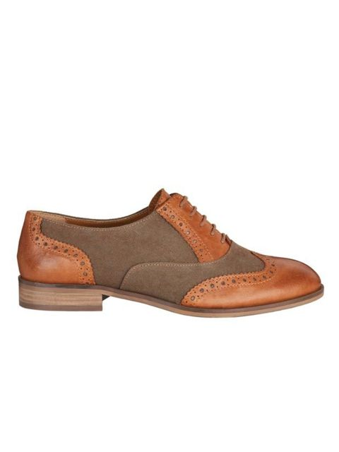 """<p>With jeans or tea dresses, brogues are essential spring footwear. This canvas and leather pair will prove a smart buy… <a href=""""http://www.jonesbootmaker.com/main/home"""">Jones Bootmaker</a> brogues, £89</p>"""